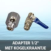 "Adapter 1/2"" met kogelkraantje"