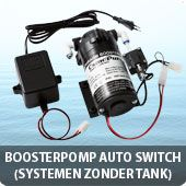 Boosterpomp 8 bar auto switch off (systemen zonder opslagtank)