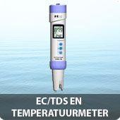 EC TDS en temperatuurmeter