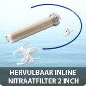 Hervulbaar inline nitraatfilter 2 inch