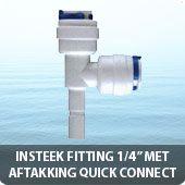 """Insteek fitting met aftakking quick connect 1/4"""""""