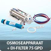 Osmoseapparaat + DI-filter 75 GPD