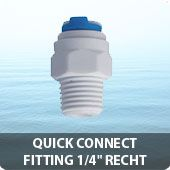 """Quick connect fitting 1/4"""" recht"""