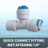 """Quick connect fitting met aftakking 1/4"""""""