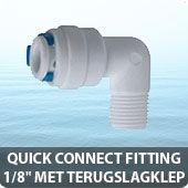 """Quick connect fitting 1/8"""" met terugslagklep"""